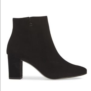 NWOB Paul Green Black Leather Ankle Booties Heeled